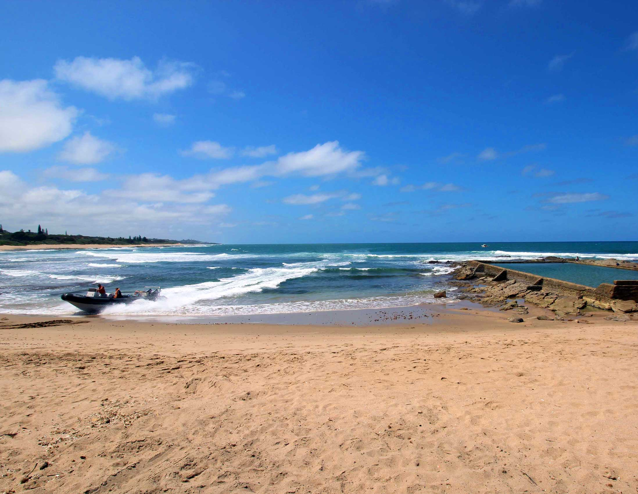 Small Craft Harbour - Shelly Beach in KwaZulu - Self Catering South Coast Holiday Accommodation